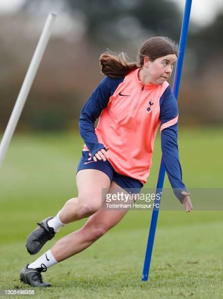 Esther Morgan of Tottenham Hotspur Women during the Tottenham Hotspur Women training session at Tottenham Hotspur Training Centre on March 05, 2021...