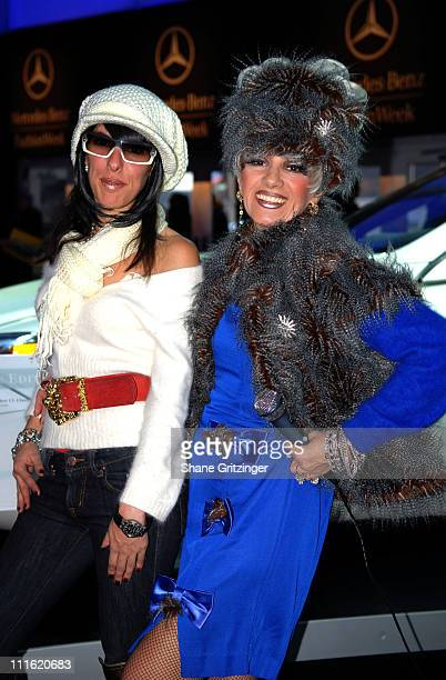 Esther Nash and Cognac Wellerlane during Mercedes-Benz Fashion Week Fall 2007 - Seen Around Bryant Park - Day 9 at Bryant Park in New York City, New...