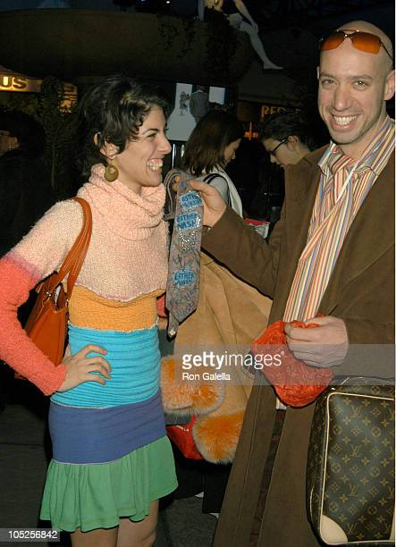 Esther Nash and Robert Verdi during Olympus Fashion Week Fall 2004 - Seen at Bryant Park - Day 6 at Bryant Park in New York City, New York, United...
