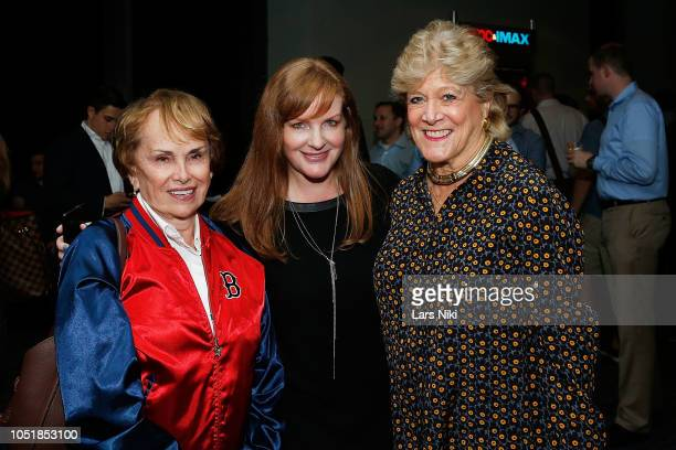 Esther Newberg IMAX CMO JL Pomeroy and author Lynn Sherr attend the IMAX private screening for the movie First Man at the IMAX AMC Theater on October...