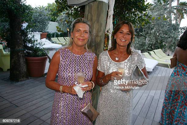 Esther Paquette and Sophie Paquette attend Launch of Diane von Furstenberg Soleil Swim and Beach Collection at The Delano on July 13 2007
