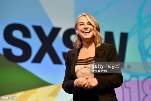 Esther Perel speaks onstage at SXSW Interactive Keynote Esther Perel during SXSW at Austin Convention Center on March 9 2018 in Austin Texas