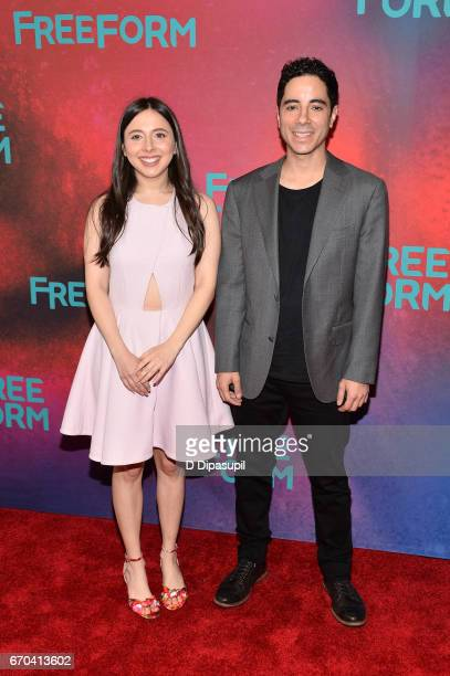 Esther Povitsky and Benji Aflalo attend the Freeform 2017 Upfront at Hudson Mercantile on April 19 2017 in New York City