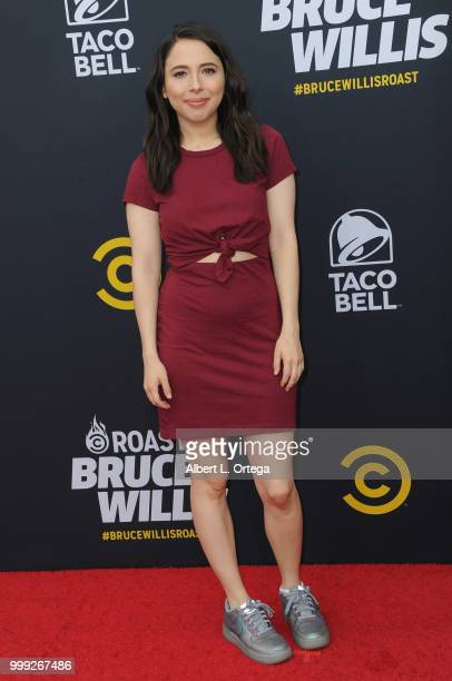Esther Povitsky arrives for the Comedy Central Roast Of Bruce Willis held at Hollywood Palladium on July 14 2018 in Los Angeles California