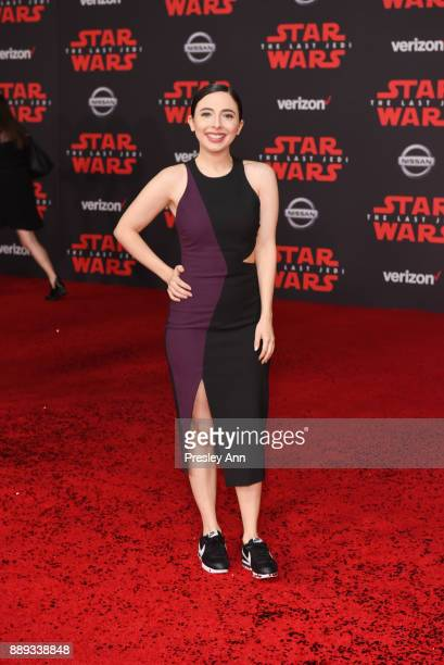 Esther Povitsky attends Premiere Of Disney Pictures And Lucasfilm's 'Star Wars The Last Jedi' Arrivals at The Shrine Auditorium on December 9 2017 in...