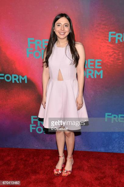 Esther Povitsky attends the Freeform 2017 Upfront at Hudson Mercantile on April 19 2017 in New York City