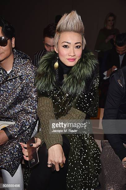 Esther Quek attends the Fendi show during Milan Men's Fashion Week Fall/Winter 2016/17 on January 18 2016 in Milan Italy
