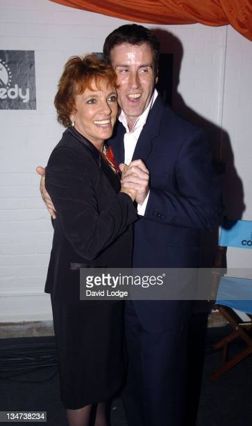 Esther Rantzen and Anton Du Beke during Paramount Comedy 10th Anniversary Party Outside Arrivals at The Truman Brewery in London Great Britain
