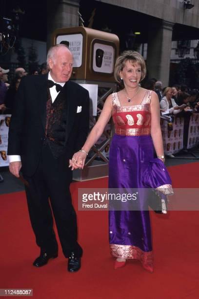 Esther Rantzen and Desmond Wilcox during 1999 BAFTA TV Awards at Grosvenor House Hotel in London United Kingdom