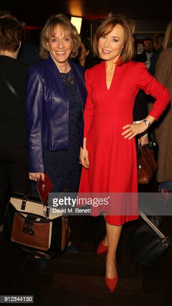 Esther Rantzen and Sian Williams attend the Costa Book Awards at Quaglino's on January 30 2018 in London England