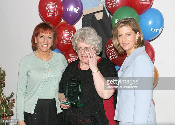Esther Rantzen and The Countess of Wessex during 2004 BT Childline Awards at Bt Tower in London Great Britain