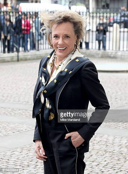 Esther Rantzen attends a memorial service for the late Sir Terry Wogan at Westminster Abbey on September 27 2016 in London England