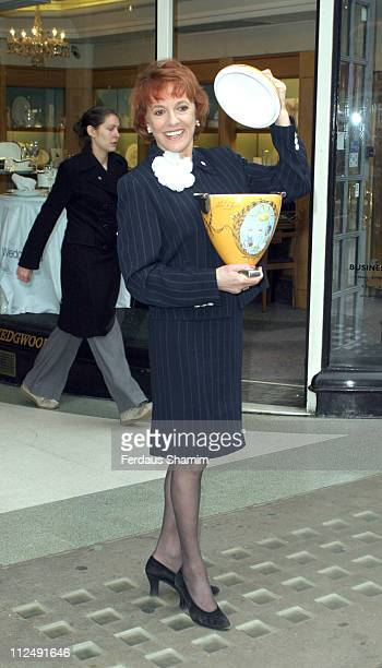 Esther Rantzen during Esther Rantzen Unveils Exclusive Wedgewood Vase Designed by HSH Prince Albert to be Auctioned for Childline and Mission France...