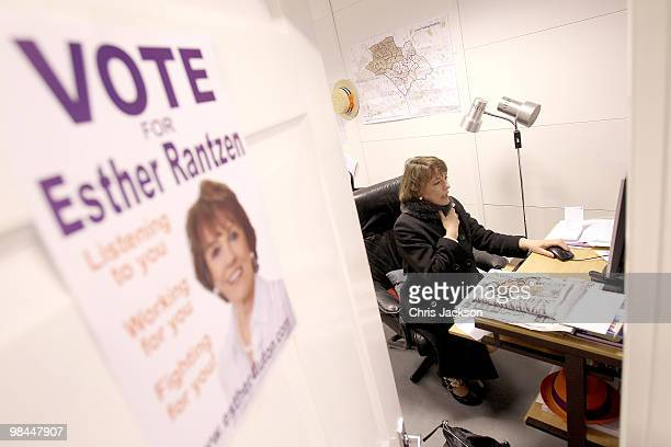Esther Rantzen works at her desk in her office as she campaigns as an independant candidate for Luton South on April 14 2010 in Luton England Esther...