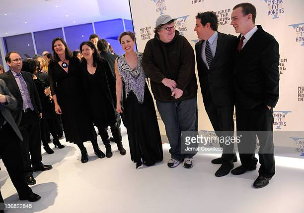 Esther Robinson Michael Moore AJ Schnack and Nathan Trusdell attend the 5th Annual Cinema Eye Honors for Nonfiction Filmmaking at the Museum of the...