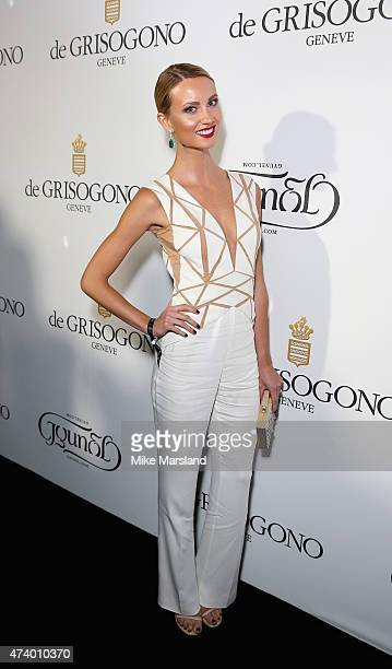Esther Satorova attends the De Grisogono Divine In Cannes Dinner Party at Hotel du CapEdenRoc on May 19 2015 in Cap d'Antibes France