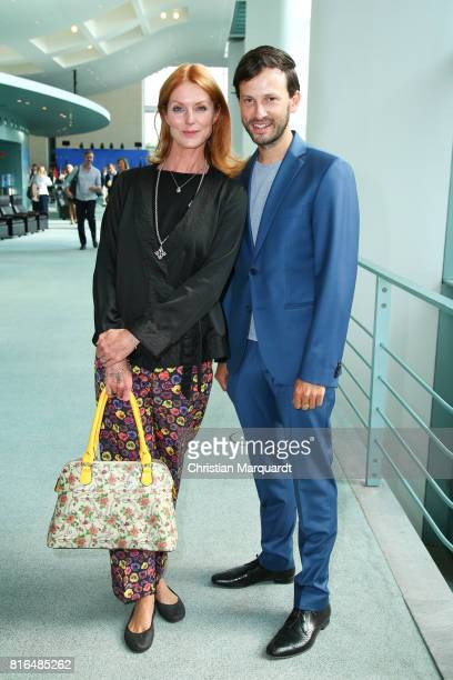 Esther Schweins and Franz Dinda attend the '#weiles2017ist' reception and closing ceremony at Bundeskanzleramt on July 17 2017 in Berlin Germany