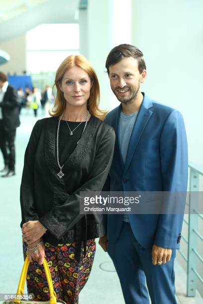 Esther Schweins and Franz Dinda attend the '#weiles2017ist' Reception And Closing Ceremony at Bundeskanzleramt on July 17, 2017 in Berlin, Germany..