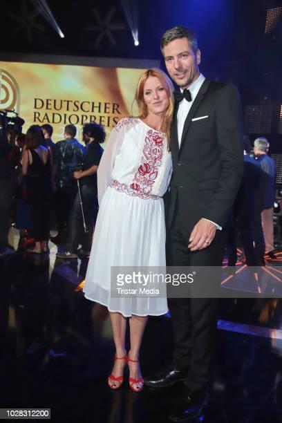 Esther Schweins and Ingo Zamperoni during the Deutscher Radiopreis at Schuppen 52 on September 6 2018 in Hamburg Germany