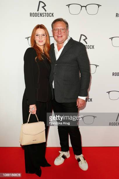 Esther Schweins and Oliver Kastalio during the Rodenstock Eyewear Show 'A New Vision of Style' at Isarforum on January 24 2019 in Munich Germany