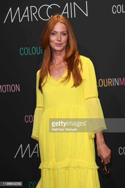 Esther Schweins at the Marc Cain fashion show during the Berlin Fashion Week Spring/Summer 2020 at Velodrom on July 02 2019 in Berlin Germany