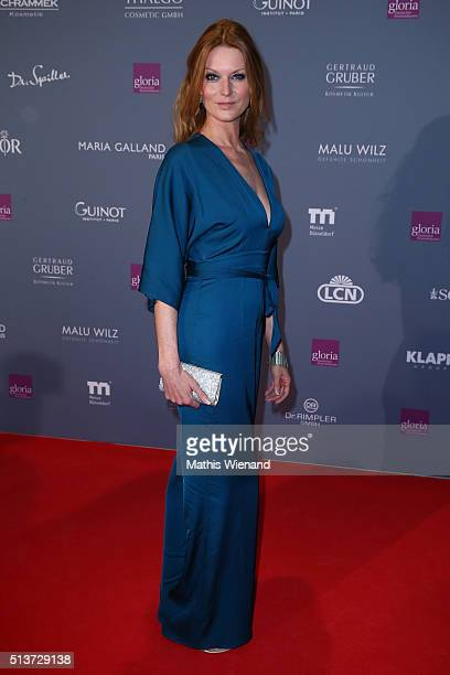Esther Schweins attends the Gloria Deutscher Kosmetikpreis 2016 at Hilton Hotel on March 4 2016 in Duesseldorf Germany