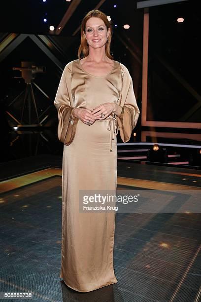 Esther Schweins attends the Goldene Kamera 2016 show on February 6 2016 in Hamburg Germany