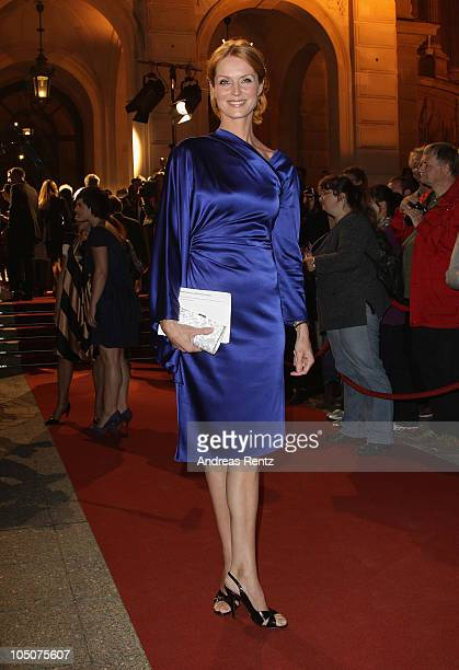 Esther Schweins attends the 'Hesse Movie Award 2010' at the Alte Oper on October 8 2010 in Frankfurt am Main Germany