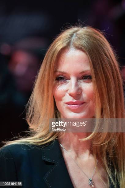 Esther Schweins attends the 'The Kindness Of Strangers' Red Carpet at the 69th Berlinale International Film Festival Berlin on February 7 in Berlin,...