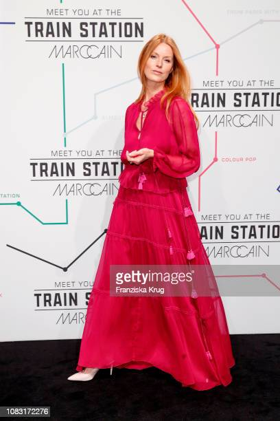 Esther Schweins during the Marc Cain Fashion Show Autumn/Winter 2019 at Deutsche Telekom's representative office on January 15, 2019 in Berlin,...