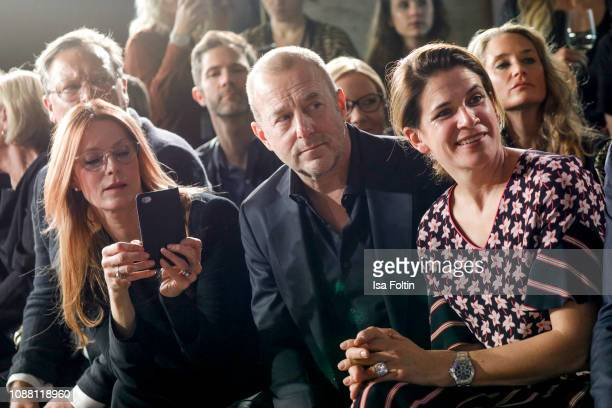 Esther Schweins Heino Ferch and his wife Marie Jeanette Ferch during the Rodenstock Eyewear Show 'A New Vision of Style' at Isarforum on January 24...