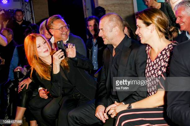 Esther Schweins, Heino Ferch and his wife Marie Jeanette Ferch during the Rodenstock Eyewear Show 'A New Vision of Style' at Isarforum on January 24,...