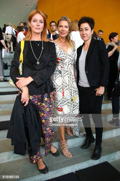Esther Schweins; Ursula Karven and Dunja Hayali attend the '#weiles2017ist' Reception And Closing Ceremony at Bundeskanzleramt on July 17, 2017 in...