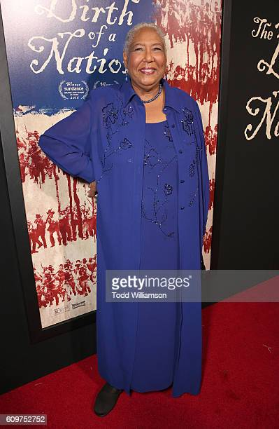 Esther Scott attends the Los Angeles Premiere of Fox Searchlight's The Birth of a Nation on September 21 2016 in Los Angeles California