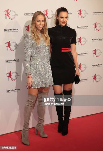 Esther Sedlaczek and Sylvia Walker pose at the 10th anniversary celebration of the Sports Total Agency on November 5 2017 in Cologne Germany
