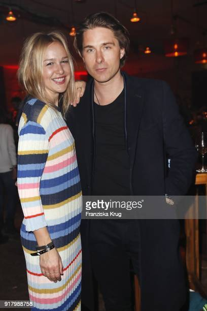 Esther Seibt and Benedikt Harder during the Inter/VIEW X HM Party on February 13 2018 in Berlin Germany