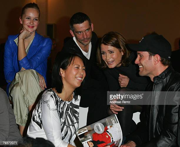 Esther Seibt MinhKhai Phan Thi Jens Solf Anja Kling and Max Timm attend the Michalsky fashion show during the MercedesBenz Fashionweek Berlin...
