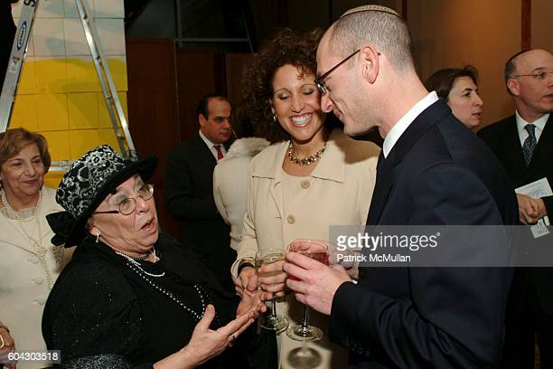 Esther Waxman Lisa Low and Yoni Leifer attend American Friends of Shalva Annual Dinner at Pier 60 on March 5 2006 in New York City