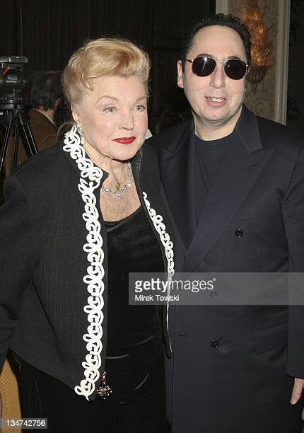 Esther Williams and David Gest during Luncheon Honoring David Gest's Upcoming Autobiography at Four Seasons Hotel in Los Angeles California United...