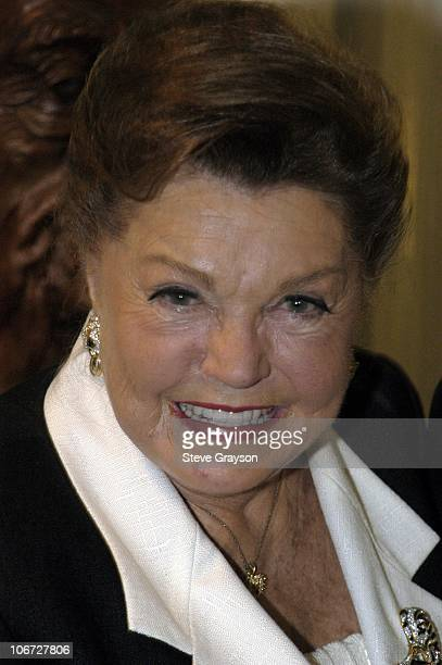 Esther Williams during Renee Taylor's OneWoman Stage Portrait An Evening With Golda Meir Premiere Engagement at The Canon Theater in Beverly Hills...
