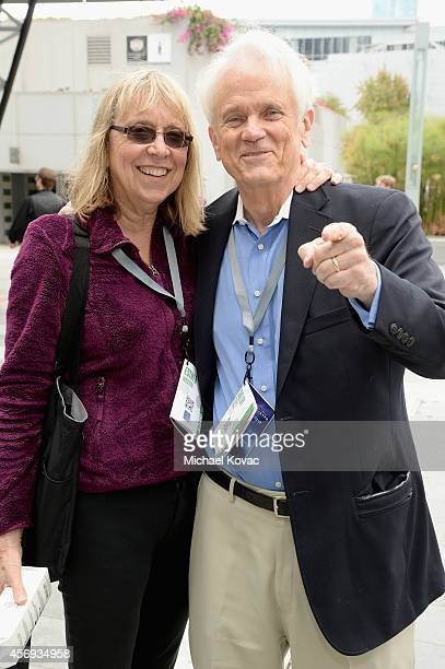 Esther Wojcicki and Newseum's Shelby Coffey attend the Vanity Fair New Establishment Summit at Yerba Buena Center for the Arts on October 9 2014 in...