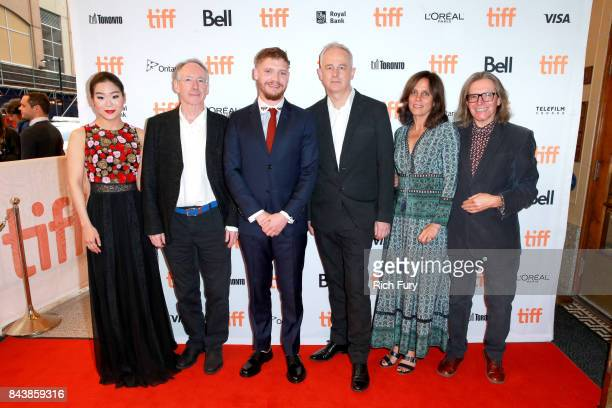 Esther Yoo Ian McEwan Billy Howle Dominic Cooke Elizabeth Karlsen and Stephen Woolley attend the 'On Chesil Beach' premiere during the 2017 Toronto...