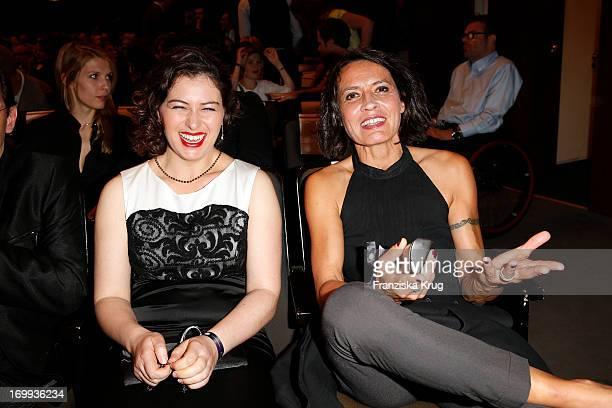 Esther Zimmering and Ulrike Folkerts attend the Studio Hamburg Nachwuchspreis 2013 at Thalia Theater on June 4, 2013 in Hamburg, Germany.