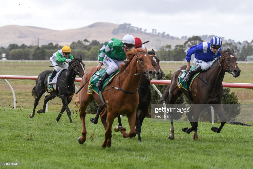 Esthetic ridden by Linda Meech wins the Bet365 2YO Maiden Plate at Terang Racecourse on April 15, 2018 in Terang, Australia.
