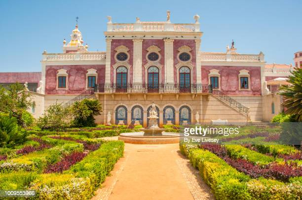 estoi palace - faro city portugal stock photos and pictures