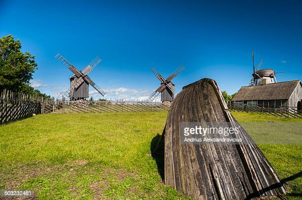 Estonia famous place to explore, with many windmills.