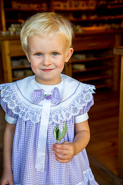 Estonia, Muhu Island. Goodkarma, Ecofarm, owned by Ea Velsvebel, makes organic soaps. Ruby Rose, daughter.