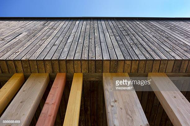 Estonia, part of wooden facade of kindergarten