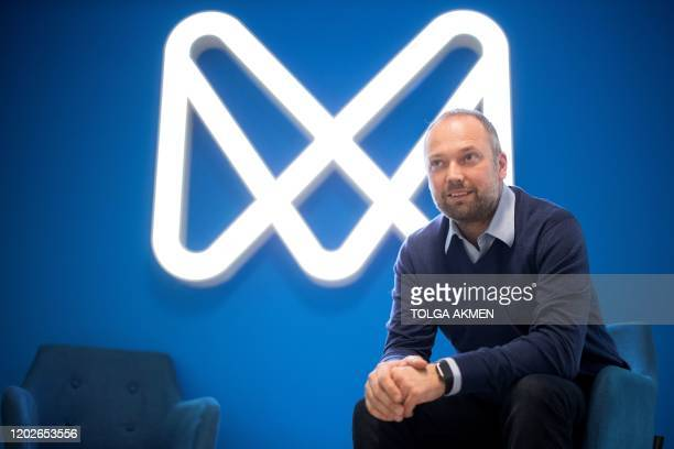 Estoniaborn entrepreneur Norris Koppel founder and CEO of mobile phone appbased 'neobank' Monese poses at the company's offices in London on February...
