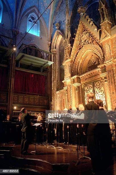 Estonian Philharmonic Chamber Choir, led by Paul Hiller, performing at Angel Orensanz Foundation on Wednesday night, November 5, 2003.They performed...